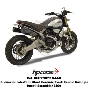 HP CORSE HYDROFORM CORSA SHORT BLACK Double link-pipe slip-on