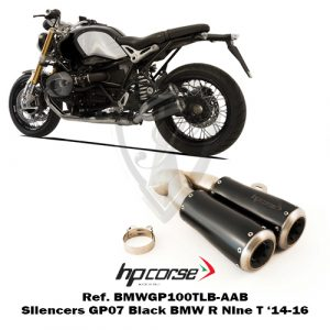 Silencers GP07 Black 1 into 2 link pipe low position